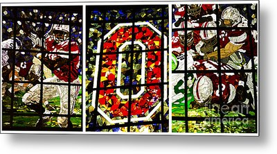 Stained Glass At The Horseshoe Metal Print by David Bearden