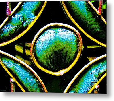Stained Glass Eye Metal Print by Rebecca Flaig