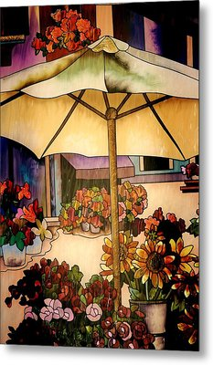 Stained Glass Italy Metal Print by Paulette Thomas