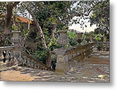 Stairs In Summer Shade Metal Print by Terry Reynoldson