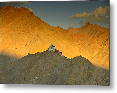 Stairs To Tsemo Metal Print by Aaron S Bedell