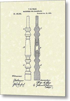Stairway Baluster 1876 Patent Art Metal Print by Prior Art Design