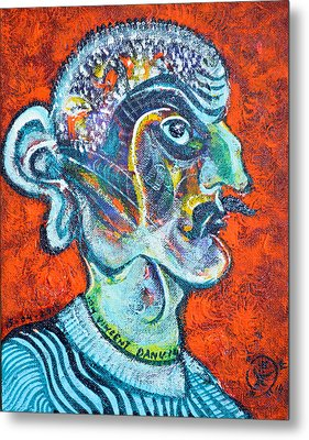 Stalinist With Big Ear Metal Print by Ion vincent DAnu