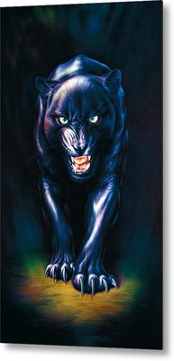 Stalking Panther Metal Print by Andrew Farley