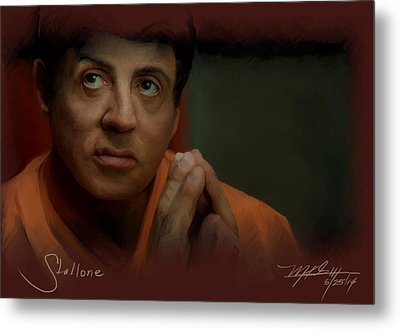 Stallone Metal Print by Mark Gallegos