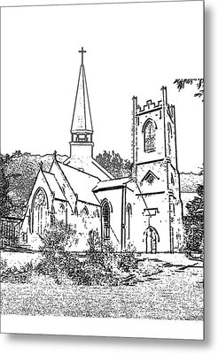 Stamp Of Churches Metal Print by Vicky  Hutton