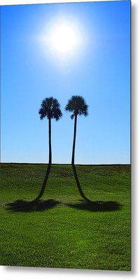 Stand By Me - Palm Tree Art By Sharon Cummings Metal Print by Sharon Cummings