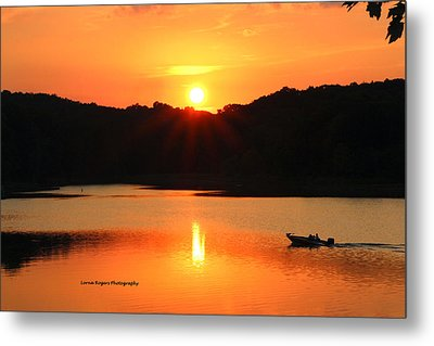 Star Burst Sunset Metal Print by Lorna Rogers Photography