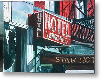Star Hotel Metal Print by Anthony Butera