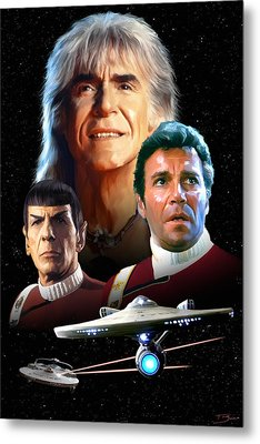 Star Trek II - The Wrath Of Khan Metal Print by Paul Tagliamonte
