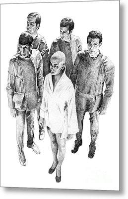 Star Trek - Meeting With V'ger Metal Print by Liz Molnar