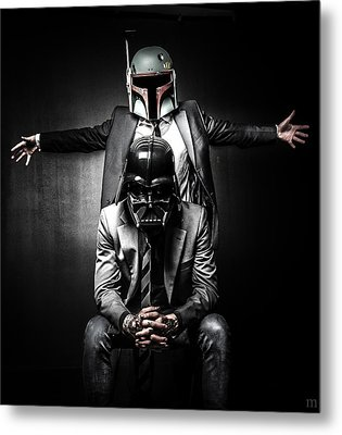Star Wars Suit Up Metal Print by Marino Flovent