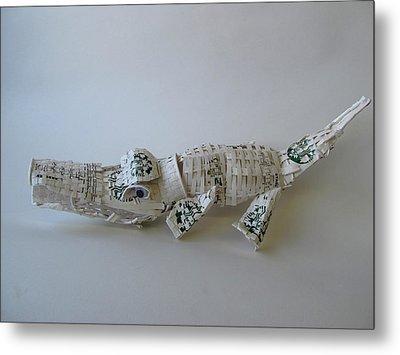 Starbucks Gator Metal Print by Alfred Ng