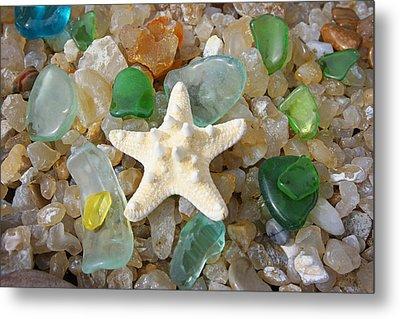 Starfish Fine Art Photography Seaglass Coastal Beach Metal Print by Baslee Troutman
