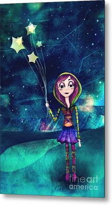 Starloons Metal Print by Kristin Hodges