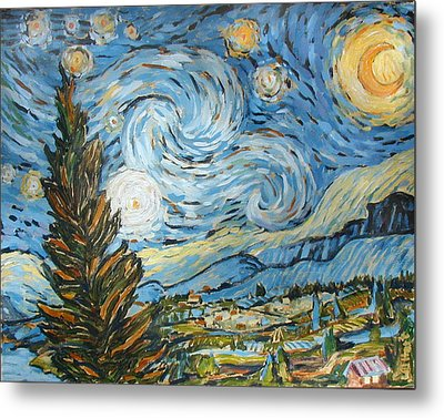 Starry Starry Ned Metal Print by Al Hart