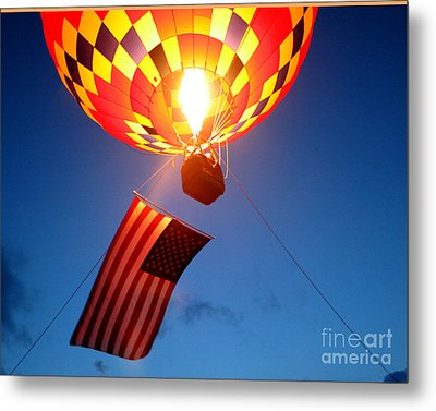 Stars And Stripes Glow Metal Print by Paul Anderson