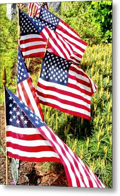 Stars And Stripes Metal Print by Janine Riley
