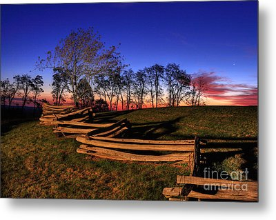 Stars At Sunrise On The Blue Ridge Metal Print by Dan Carmichael
