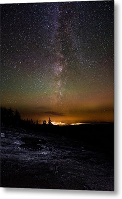Stars Over Cadillac Mountain Metal Print by Brent L Ander