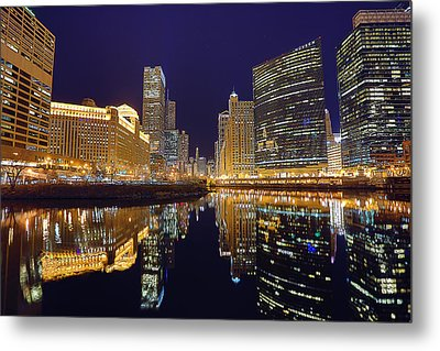 Stars Over Chicago Metal Print by Nicholas Johnson