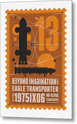 Starschips 13-poststamp - Space 1999 Metal Print by Chungkong Art