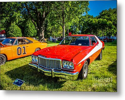 Starsky And Hutch Ford Gran Torino Metal Print by Grace Grogan