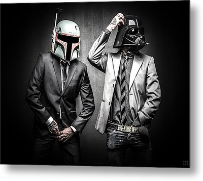 Starwars Suitup Metal Print by Marino Flovent