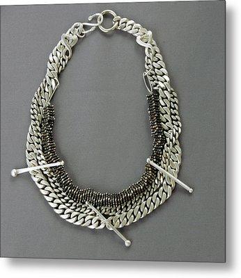 Statement Necklace Metal Print by Mirinda Kossoff