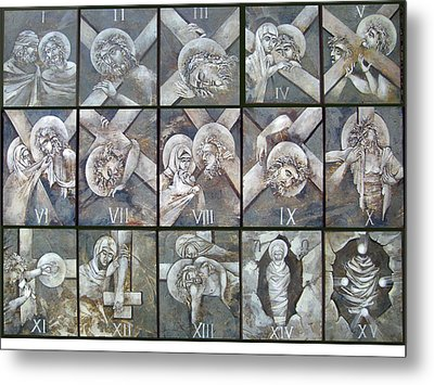 Stations Of The Cross Metal Print by Mary jane Miller