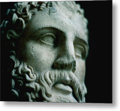 Statue Face Metal Print by Marcio Faustino