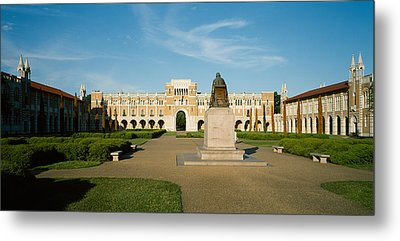 Statue In The Courtyard Of An Metal Print by Panoramic Images
