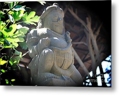 Statue In The Sun Metal Print by Jackie Mestrom
