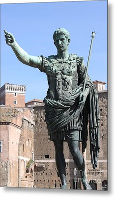 Statue Of Emperor Augustus Metal Print by Alessandro Russo
