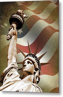 Statue Of Liberty Metal Print by Mark Rogan