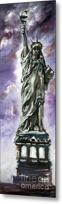 Statue Of Liberty Part 3 Metal Print by Ginette Callaway