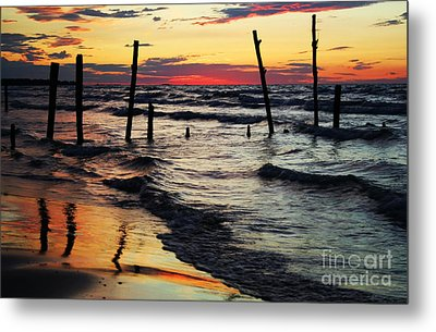 Stay Ashore Metal Print by Barbara McMahon