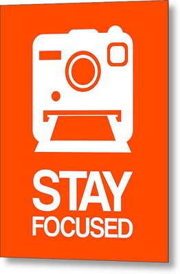 Stay Focused Polaroid Camera Poster 3 Metal Print by Naxart Studio