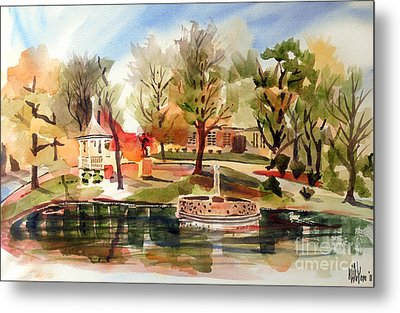 Ste. Marie Du Lac With Gazebo And Pond II Metal Print by Kip DeVore