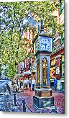 Steam Clock In Vancouver Gastown Metal Print by David Smith
