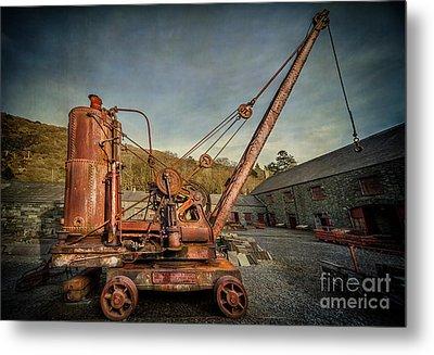 Steam Crane Metal Print by Adrian Evans
