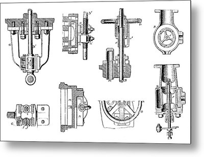 Steam Engine Components Metal Print by Science Photo Library