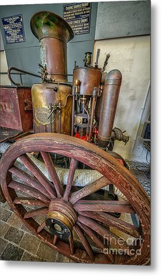 Steam Fire Engine Metal Print by Adrian Evans