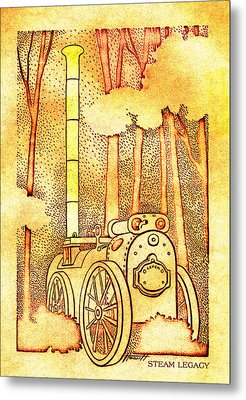 Steam Legacy Gold Metal Print by Patricia Howitt