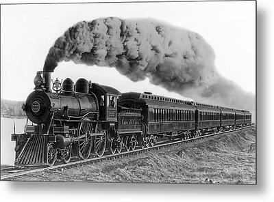 Steam Locomotive No. 999 - C. 1893 Metal Print by Daniel Hagerman