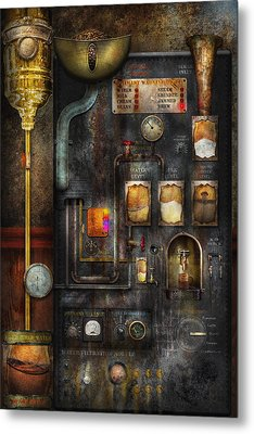 Steampunk - All That For A Cup Of Coffee Metal Print by Mike Savad