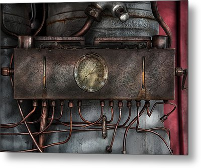 Steampunk - Connections   Metal Print by Mike Savad
