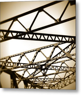 Steel Lines Metal Print by Timothy Bischoff