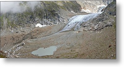 Stein Glacier, Switzerland Metal Print by Science Photo Library