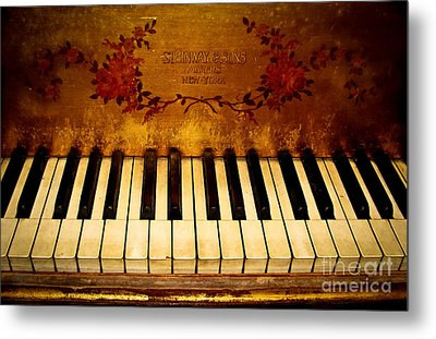 Steinway Golden Grand  Metal Print by Colleen Kammerer